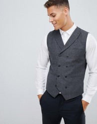 Jack & Jones Premium slim waistcoat with wool mix - Grey