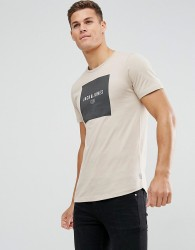 Jack & Jones Slim Logo T-Shirt - Beige