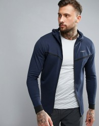 Jack & Jones Tech Sweat Zip Hoodie - Navy