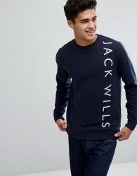 Jack Wills Abingdon Lightweight Graphic Sweatshirt in Navy - Navy