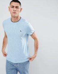Jack Wills Baildon Twin-Tipped Ringer T-Shirt in Light Blue - Blue