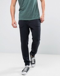Jack Wills Barnaby Tapered Fit Sweat Joggers In Black - Black