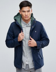 Jack Wills Bowfell 2 In 1 Jacket & Quilted Gilet In Navy - Navy