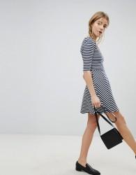 Jack Wills Darsa Drop Hem Stripe Dress - Multi