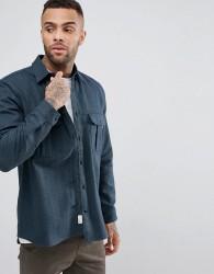 Jack Wills Dundry Flannel Shirt In Dark Green - Green
