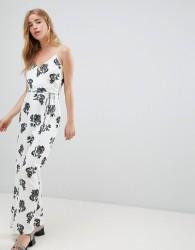Jack Wills Floral Jumpsuit - White