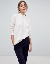 Jack Wills High Neck Knit with Cable Stitch Detail - Pink
