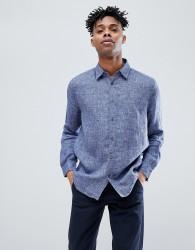 Jack Wills Jaywick Solid Linen Shirt in Blue - Blue