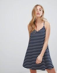 Jack Wills Jersey Striped Swing Dress - Navy