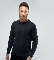 Jack Wills Long Sleeve Logo T-Shirt In Black - Black