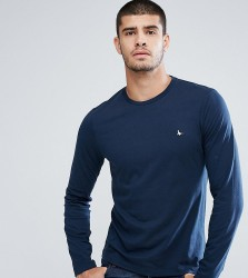 Jack Wills Long Sleeve Logo T-Shirt In Navy - Navy