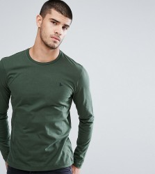 Jack Wills Long Sleeve Logo T-Shirt In Pine - Green