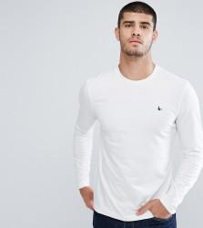 Jack Wills Long Sleeve Logo T-shirt In White - White