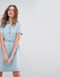 Jack Wills Lowestoft Tencel Soft Shirt Dress - Blue