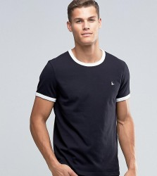 Jack Wills Ringer T-Shirt In Regular Fit In Black Exclusive - Black