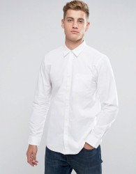 Jack Wills Salcombe End On End Regular Fit Shirt In White - White