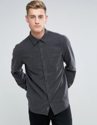Jack Wills Somerby Regular Fit Textured Flannel Shirt In Charcoal - Grey