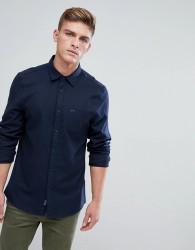 Jack Wills Somerby Regular Fit Textured Flannel Shirt In Navy - Navy
