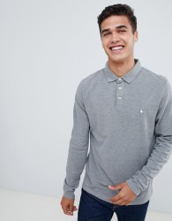 Jack Wills Staplecross Long Sleeve Polo in Grey - Grey