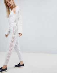 Jack Wills Tracksuit Pant with Piping Detail - White