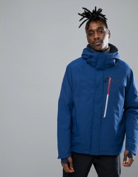 Jack Wolfskin Exolight Icy Jacket in Royal Blue with Chest Pocket - Blue