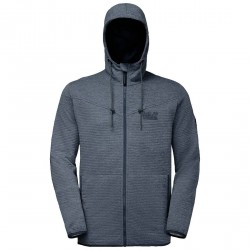 Jack Wolfskin Tongari Hooded Jacket - Herrefleece m/hætte