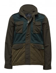 Jacket In Mix & Match Polyester/ Nylon With Military