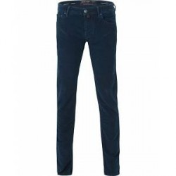Jacob Cohën Jacob Cohen 622 Slim Fit 5-Pocket Moleskin Trousers Navy