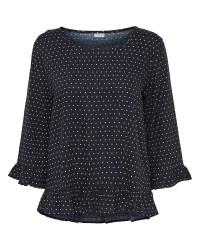 Jacqueline de Yong Anna 3/4 frill blouse (HVID, 38)
