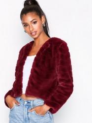 Jacqueline de Yong Jdyevan Short Fake Fur Jacket Otw Q Faux Fur Mørke Lilla