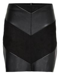 Jacqueline de Yong Kristina pu skirt (SORT, XL)