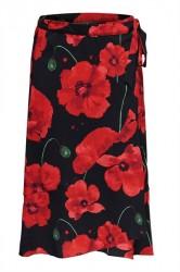 Jacqueline de Yong - Nederdel - JDY Indie Midi Wrap Skirt - Black/Fiery Red