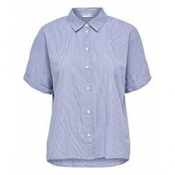 Jacqueline de Yong Tiffany s/s stripe shirt (LYSEBLÅ, 36)