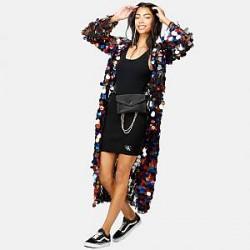 Jaded London Kimono - Rainbow Sequin