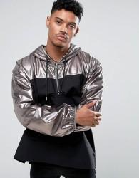Jaded London Overhead Jacket In Silver - Grey
