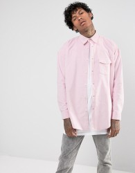 Jaded London Shirt In Pink Cord Reg Fit - Pink