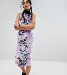 Jaded London Tall Column High Neck Printed Bee Midi Dress - Multi