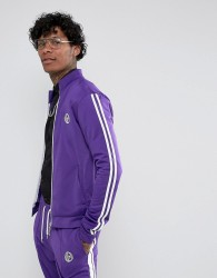 Jaded London Track Jacket In Purple With Taping - Purple