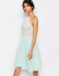 Jarlo Edie Tulle Lace Halter Dress - Green