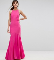 Jarlo Fishtail Maxi Dress With Open Bow Back - Pink
