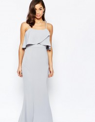 Jarlo Petite Overlay Maxi Dress - Grey