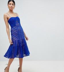Jarlo Tall Cami Strap Lace Midi Dress - Blue