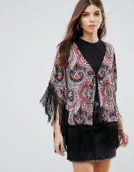 Jasmine Paisley Print Kimono - Multi