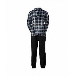 JBS Py Sæt Flannel Pyjamas (Blå, XXLARGE)