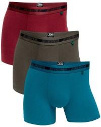 JBS Undertøj JBS 3-Pak Oliven, Blå og Vinrød Bambus-underbukser 1080 51 996