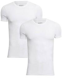 JBS Undertøj JBS Extra Soft Bambus 2-pak Hvid JBS T-shirt med rund hals 1080 02 01