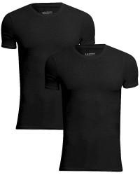 JBS Undertøj JBS Extra Soft Bambus 2-pak Sort JBS T-shirt med rund hals 1080 02 09