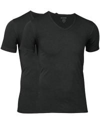 JBS Undertøj JBS Extra Soft Bambus 2-pak Sort JBS T-shirt med V-hals 1080 2000 09