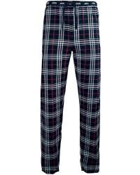 JBS Undertøj JBS Pyjamas Bukser i Blå/Røde/Hvide tern og modeelastik 134 92 1272