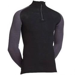 JBS Undertøj JBS Sort Uld langærmet t-shirt med grå ærmer - Til udendørs aktivitet - 994 16 0809